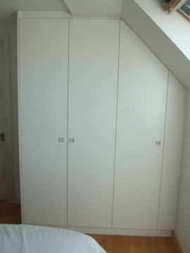 Wardrobes in penthouse conversion flat