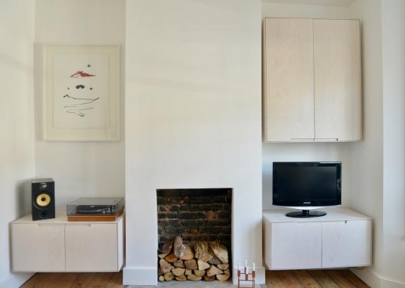 Living room alcoves